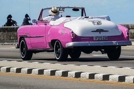 Almendron, Car, Cuba, Travel, Taxi, Convertible