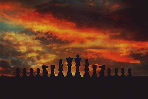 Chess, Play, Sunset, Easter Island, Strategy