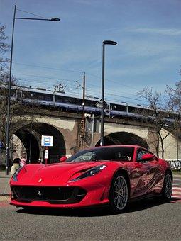 Ferrari, Car, Road, Ferrari F8 Tributo, Sports Car
