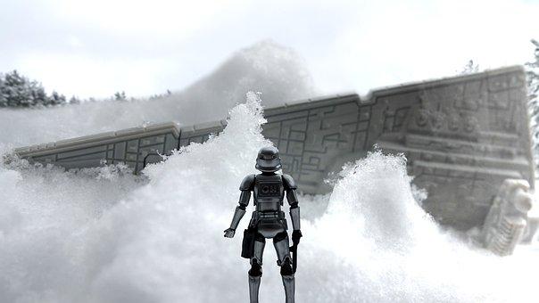 Star Wars, Stormtrooper, Snow, Action Figure, Miniature