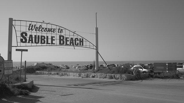 Beach, Sign, Sauble Beach, Vintage, Signage