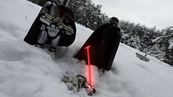 Star Wars, Lightsaber, Snow, Action Figures, Miniature