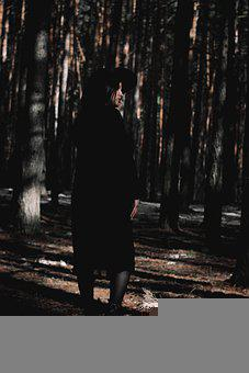 Girl, Forest, Trees, Mystic, Woods, Woodlands, Alone