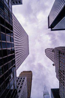 Skyscrapers, Architecture, Perspective, Buildings