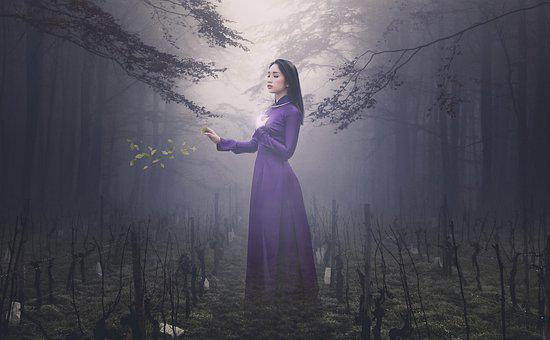 Fantasy, Woman, Forest, Girl, Young, Beauty, Ao Dai