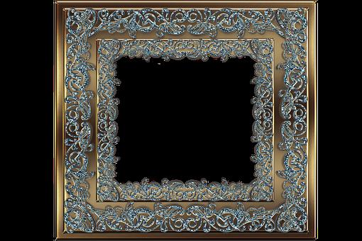 Frame, Flourish, Decorative, Gold, Emeralds, Border