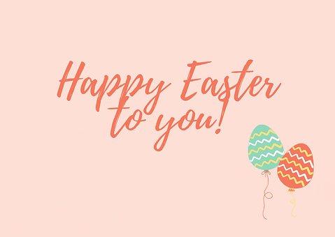 Easter, Greetings, Eggs, Balloons, Happy Easter