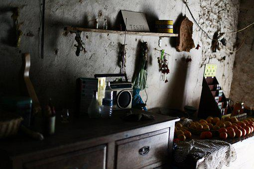 Radio, Fruit, Wall, Decorations, Interior, Home, Former