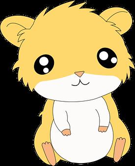Hamster, Pet, Rodent, Animal, Mammal, Cartoon Drawing