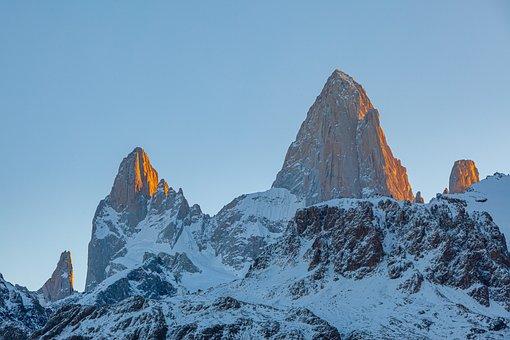 Mountain, Summit, Landscape, Peak, Sky, Sunset, Scenery