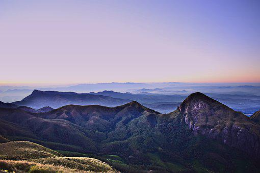 Mountains, Summit, Landscape, Fog, Peak, Mountain Range
