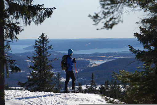 Mountain, Snow, Ski, Man, Cross Country Skiing, Winter