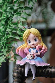 Alice, Figurine, Toy, Alice In Wonderland, Miniature