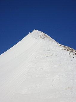 Alps, Snow, Summit, France, Mountain, Winter
