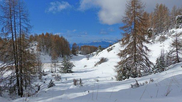 Landscape, Nature, Mountain, Winter, Alps