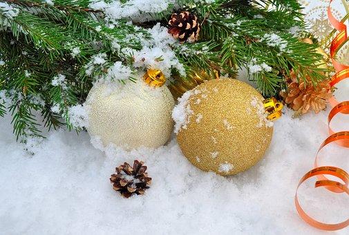 Background, Balls, Christmas, Cold, December, Decor