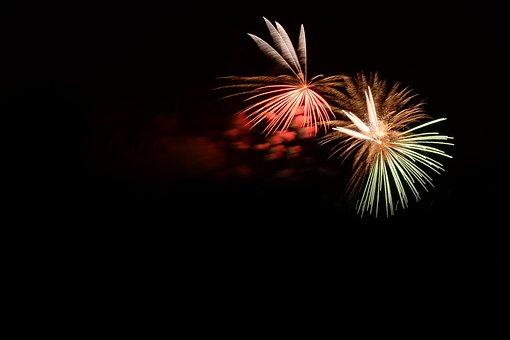 Fireworks, Fire, Colorful, Bengali Fire, Black, Dark