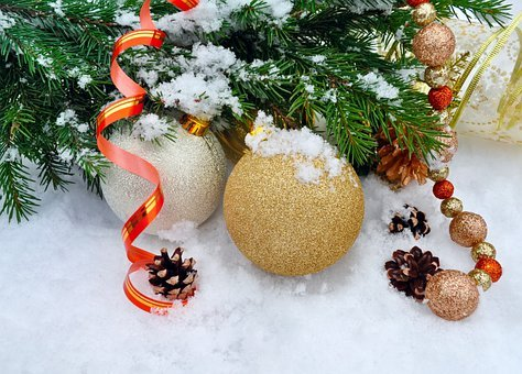 Background, Balls, Christmas, Cold, December, Decor