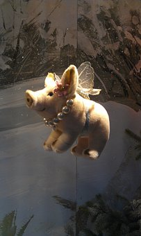 Lucky Pig, New Year's Day, Flying, Wing, Beads