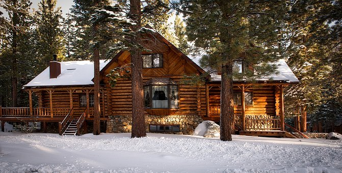 Log Cabin, House, Home, Rural, Rustic, Architecture