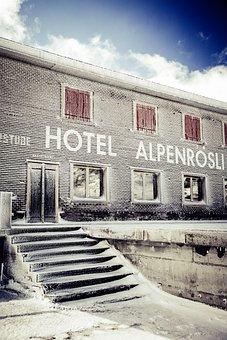 Hotel, Mountains, Landscape, Alpine, Holiday