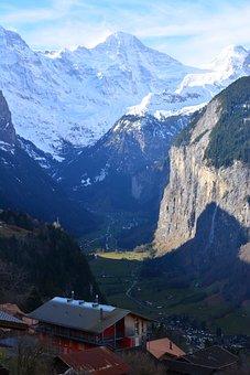 Swiss, Jungfrau, Lauterbrunnen, Icecap, Alps, Mountain