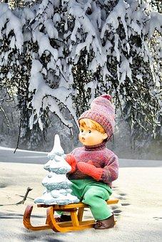 Assembly, Slide, Doll, Porcelain Doll, Christmas Tree