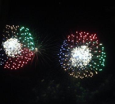 Fireworks, Celebration, Explosion, Night, Sky, Evening