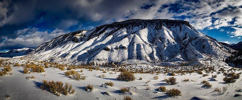 Yellowstone, Mountains, Landscape, Wilderness, Sky