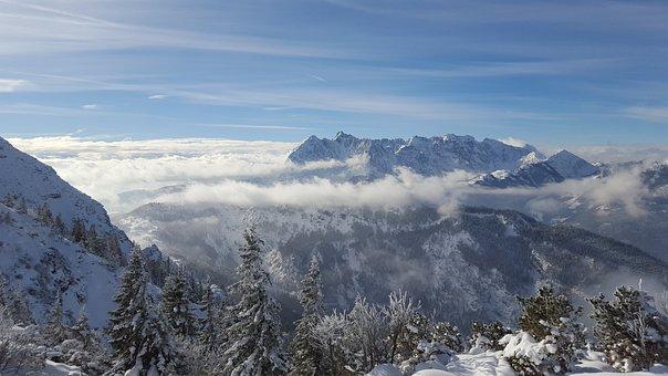Mountains, Clouds, Austria, Tyrol, Alpine, Snow