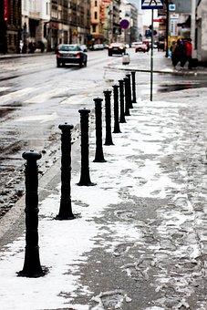 Street, City, Snow, Winter, Wet, Cold, Frozen, Season