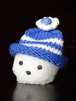 Snow Man, Snowman Head, Head, Cap, Blue