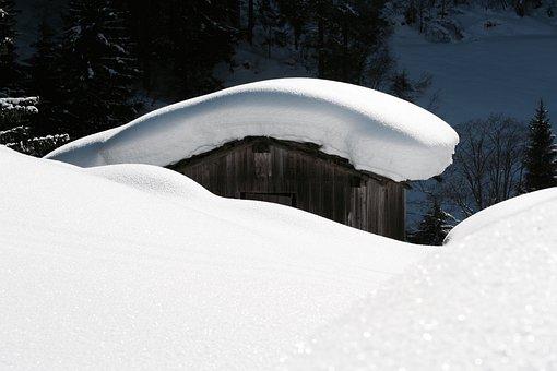 Stall, Snow, Landscape, Zillertal, Winter, Snowy