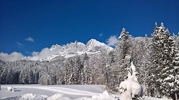 Wilderkaiser, Snow, Winter, Tyrol, Mountains, Landscape