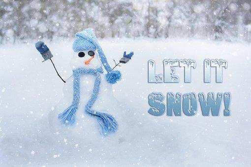 Snowman, Snow Man, Winter, Let It Snow, Snow, White