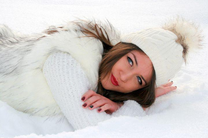 Girl, Snow, About, White, Feerie, Winter, Blonde