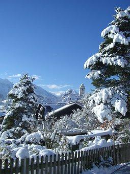 St Mang Tower, Füssen, Winter, Snow Magic