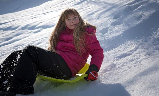 Person, Human, Girl, Bob, Ride On, Slip, Winter, Snow