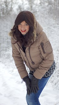Snow, Cold, Winter, Ice, Wintry, Tree, Landscape, Woman