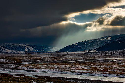 Yellowstone National Park, Wyoming, Hdr, Sunlight