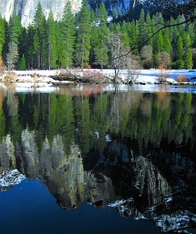 Yosemite, River, Surface Of The River, Water, Snowmelt