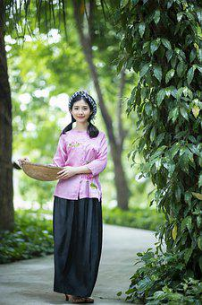 Woman, Beauty, Vietnamese, Countryside
