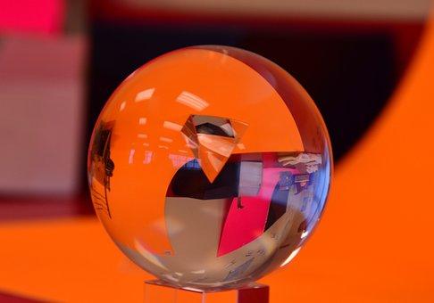 Glass Ball, Reflection, Decorative, Crystal Ball