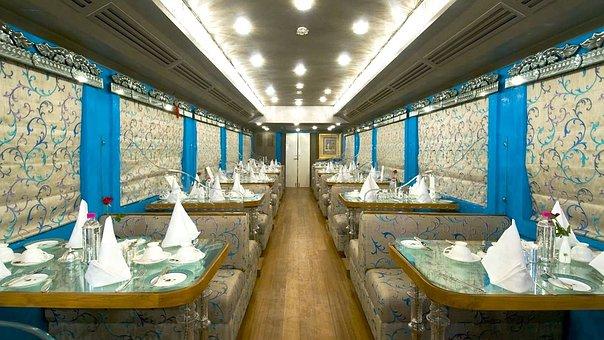 Luxury Train, Interior Design, Dining Area, Tables
