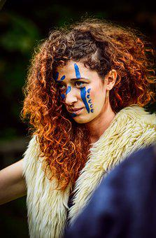 Viking, Woman, Warrior, Fantasy, Face Paint, Costume