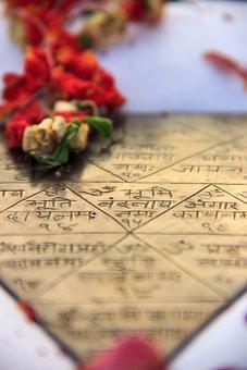 Yantra, Triangle, Metal, Gold, Decorative, Culture