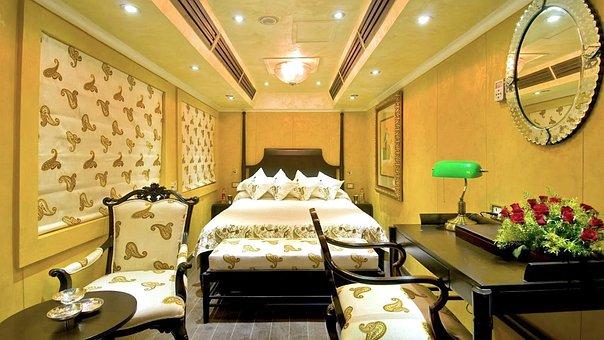 Luxury Train, Interior Design, Bedroom, Furniture, Room