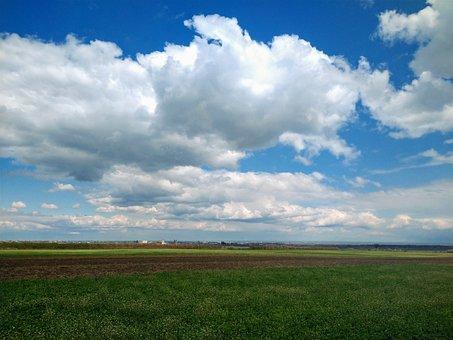 Grassland, Pasture, Land, Blue Sky, Clouds, Green Grass