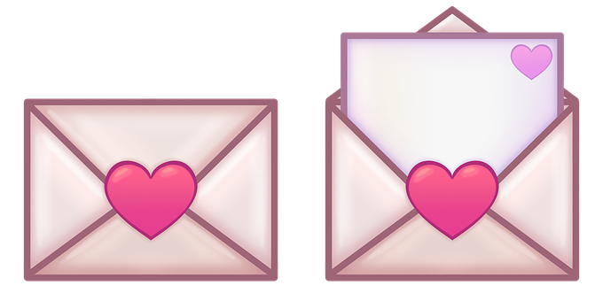 Letter, Message, Hearts, Closed Envelope, Love, Cute