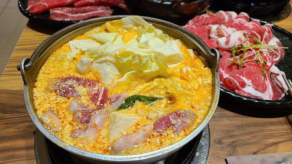 Hot Pot, Dish, Food, Meal, Beef, Lamb, Shrimp, Dinner